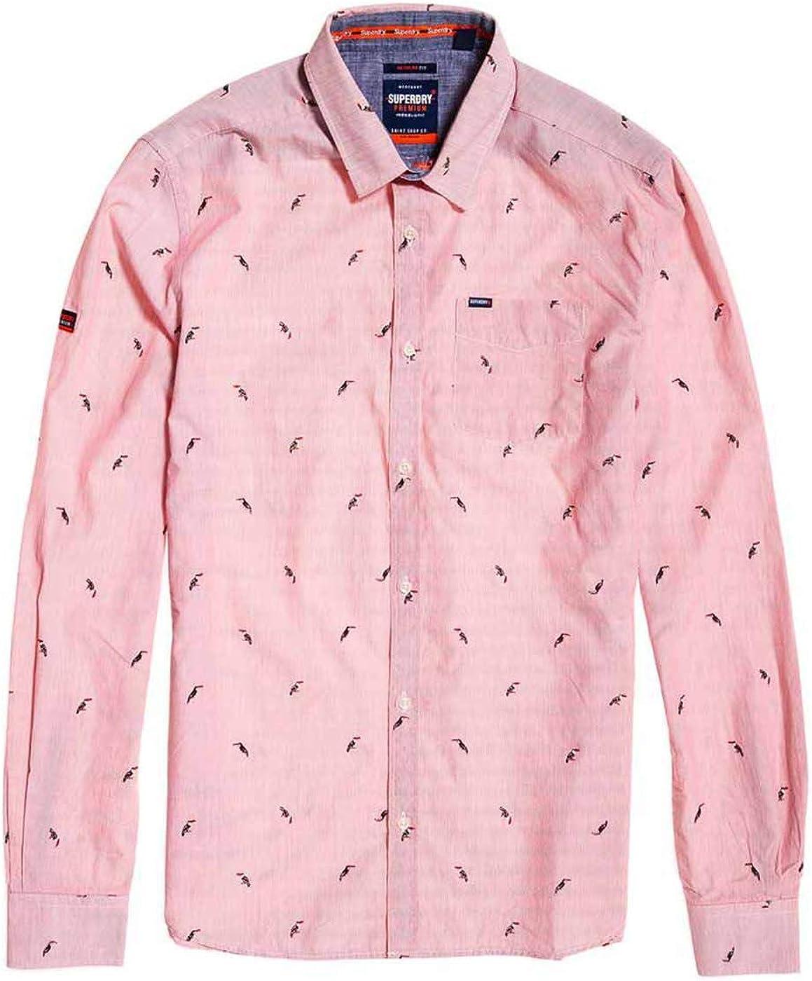 Superdry Camisa Hombre Premium Shoreditch Tucanes Rojo XL Rojo: Amazon.es: Zapatos y complementos