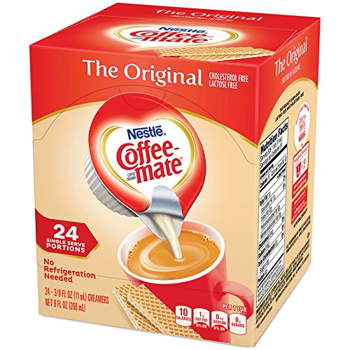Liquid Creamer Cups - Coffee Mate Coffee Creamer Liquid Singles, Original, 24 Count (Pack of 4)
