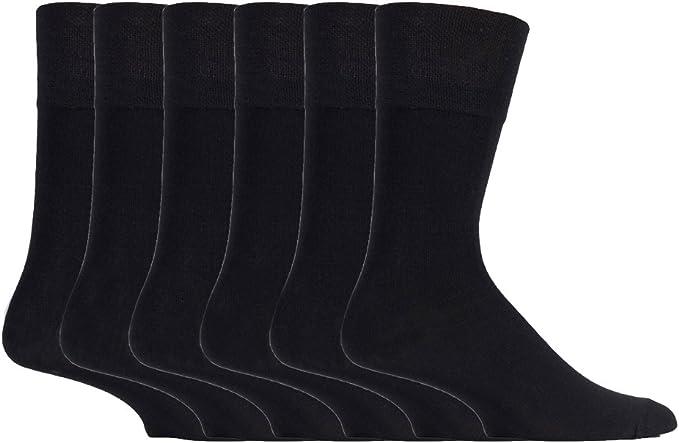 12 x Mens Bamboo Cotton Blend Non Elastic Top Loose Gentle Socks Main