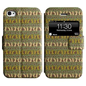 LEOCASE rata bailando Funda Carcasa Cuero Tapa Case Para Apple iPhone 4 / 4S No.1005827
