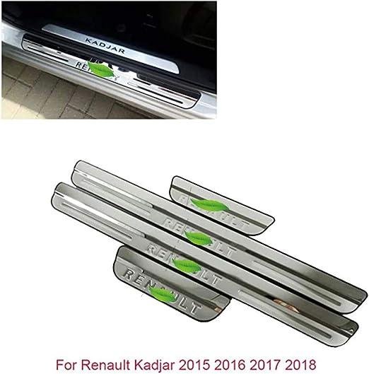 Listones de umbral de acero inoxidable para CLIO IV CLIO 4 para puerta de la cubierta de la puerta accesorios 2016-2018