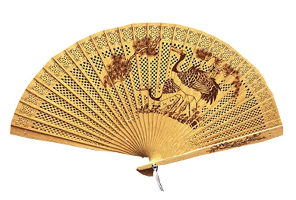 Panda Superstore Chinese Style Hand Held Fan Folding Hand Fans Fan Hand Wooden Folding Fan