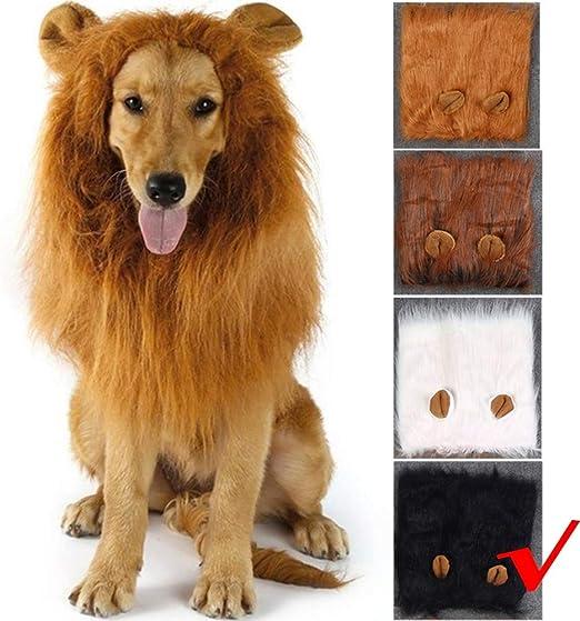 WMWJDQ 1pcs Lion Mane Peluca para Perro y Gato Disfraz Mascota ...