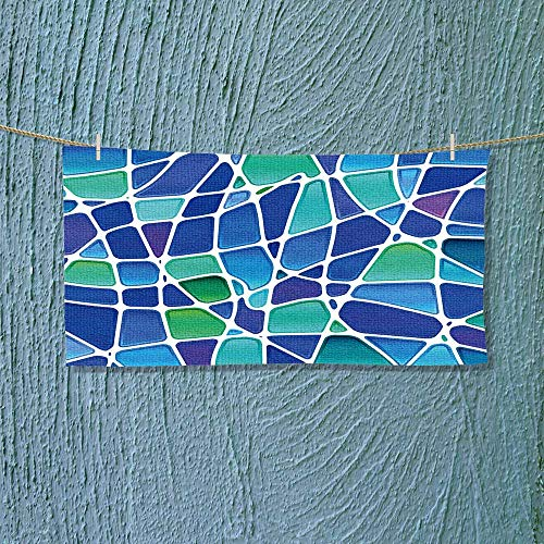(Leighhome Sports Ttowel Abstract Stained Glass Mosaic Absorbent Towel Size: W 12