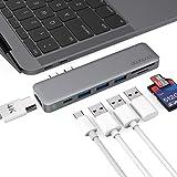 USB Cハブ USB Type-C PD充電ポート 4K HDMI出力ポート SD/MicroSDカードスロット USB3.0ポート*3 MacBook Air 2018/MacBook Pro 13/15inch専用 Thunderbolt 3に対応