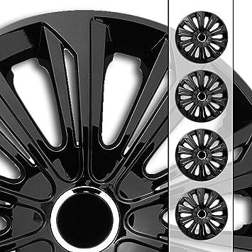 Eight Tec Handelsagentur Größe Und Farbe Wählbar 16 Zoll Radkappen Radzierblenden Str Bandel Schwarz Farbe Schwarz Passend Für Fast Alle Fahrzeugtypen Universell Nur Beim Radkappen König Auto