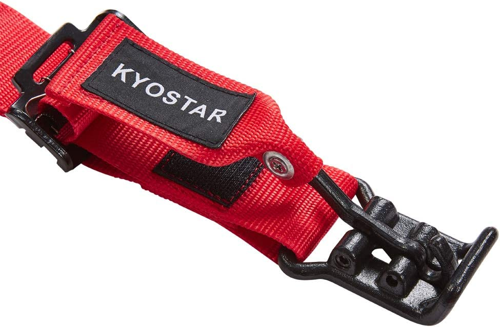 Kyostar 4 Point Racing Safety Harness with Ultra Soft Heavy Duty Shoulder Pads 1 Pack-Black