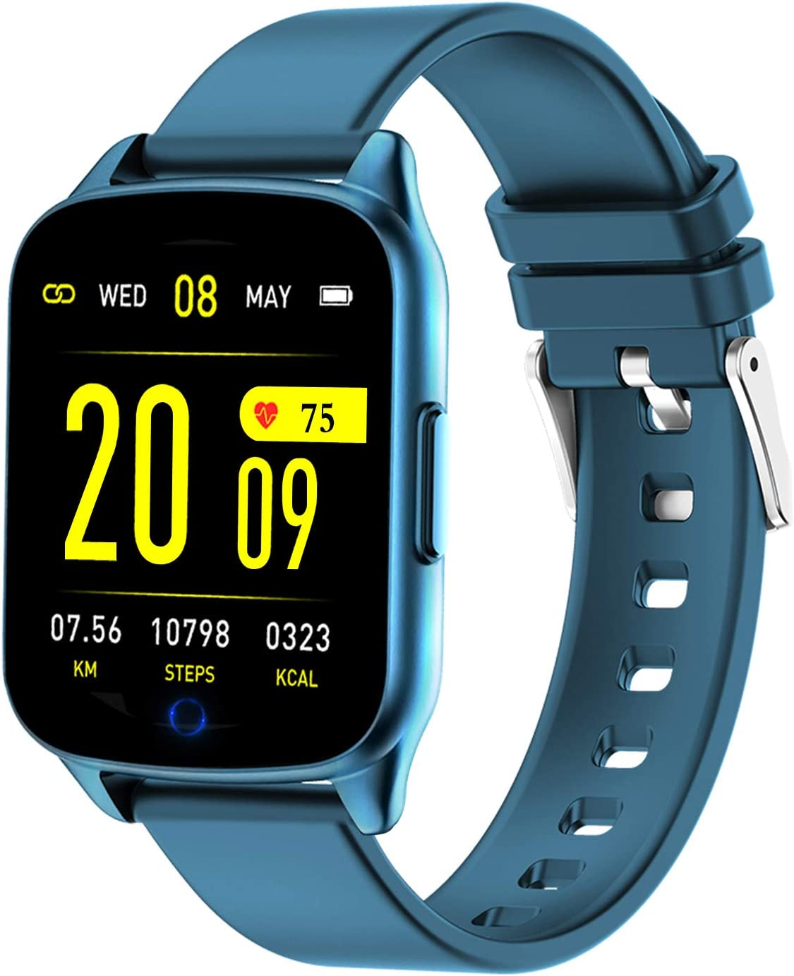 AMENON Fitness Tracker Watch for Women Men - Heart Rate Blood Pressure Oxygen Monitor Health Exercise Watch, Activity Tracker with Weather Step Calorie Counter, Waterproof Smart Fitness Watch