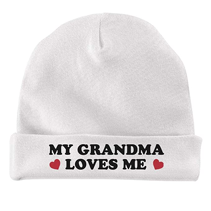 Amazon.com  Funny My Grandma Loves Me Gift  Infant Baby Hat  Clothing 292a4ba0211