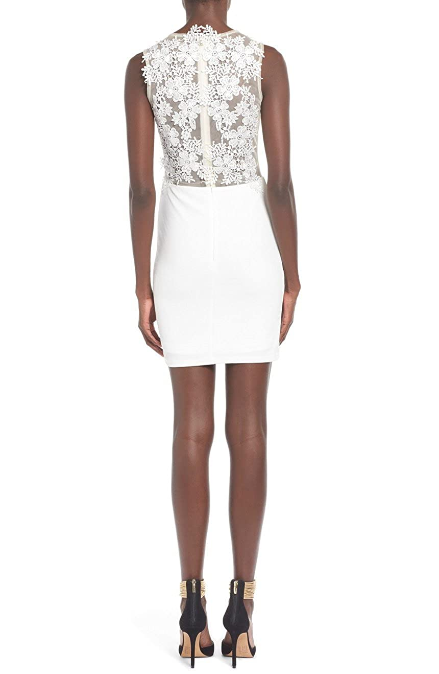 MISSGUIDED Floral Body-Con Dress 12us/16UK/44EU at Amazon Womens Clothing store: