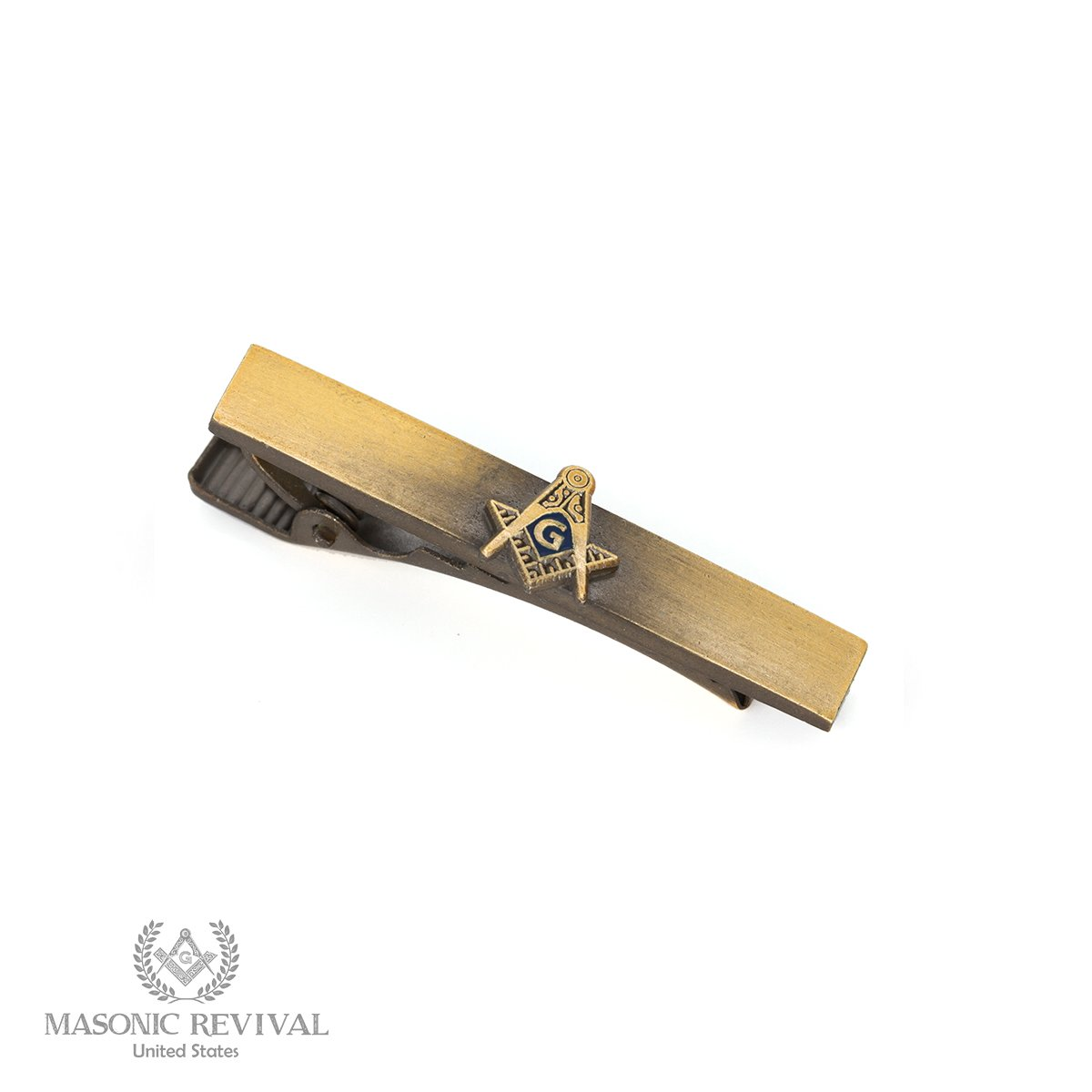 La Mosquita Tie Bar Clip by Masonic Revival (Short / Antique Gold)