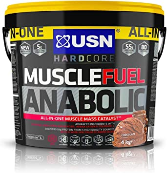 USN Todo En Uno Músculo Combustible Anabol Chocolate Proteína Polvo 4000 g