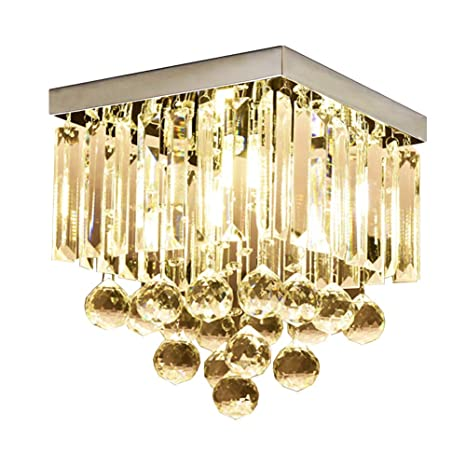 Ceiling Lights Modern Ceiling Light Stainless Steel Ceiling Lamps Creative 6 Lights In Crystal Ceiling Lamp Sitting Room Led Home Lighting Reputation First