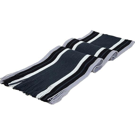 Bufanda de algodón a rayas para hombre con borlas a rayas de ...