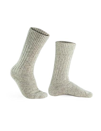 a0a8d62623 Amazon.com: 100% Pure Wool Socks - Men, Natural Gray: CleverBrand Inc.