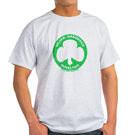 54410090 Amazon.com: CafePress Silver Shamrock Faded Light T-Shirt Cotton T ...