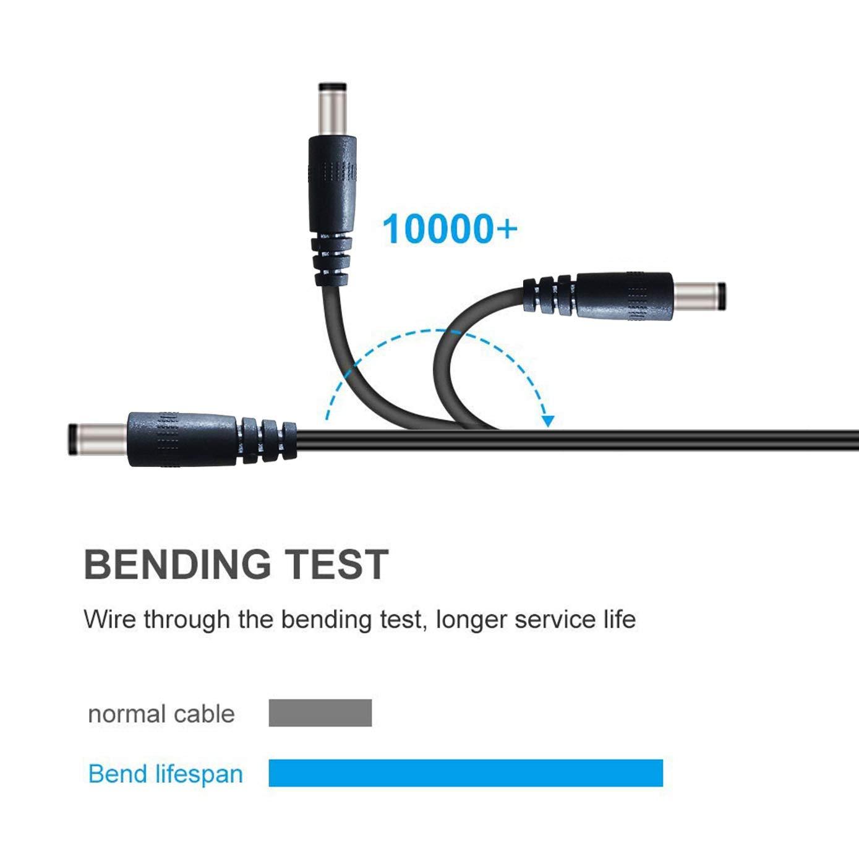 enrutador c/ámara Foscam Liwinting 2m Cable USB a DC USB to DC Cable 5V 5.5mm // 2.1mm DC Barrel Male Jack Convertidor Cable de Carga de alimentaci/ón para Luces de Tira Led CCTV etc.