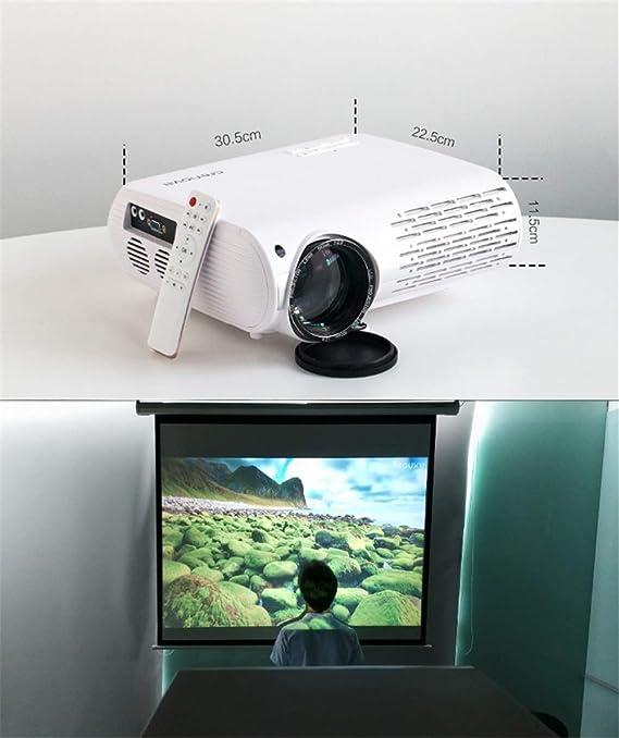 Proyector de Video para Full HD 4K * 2K Proyector de Cine en casa con 5G WiFi 6500 lúmenes Proyectores (Color : Negro): Amazon.es: Electrónica