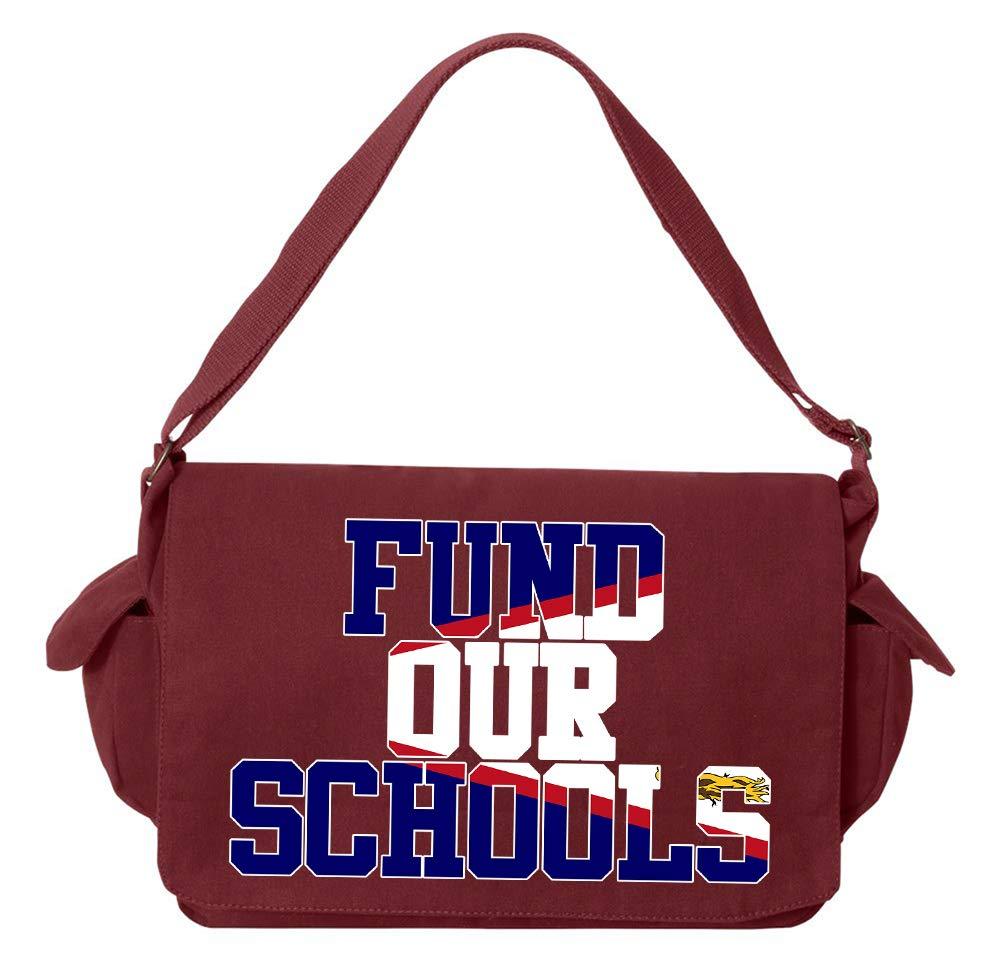 Tenacitee Fund our American Samoa Schools Flamingo Raw Edge Canvas Messenger Bag