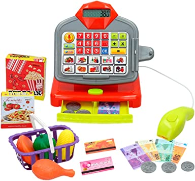 ColorBaby - Caja registradora con accesorios luz y sonido My Market(43885): Amazon.es: Juguetes y juegos