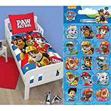Paw Patrol Pawsome Junior/Toddler Duvet Cover & Pillowcase Set + FREE Small Foil Stickers
