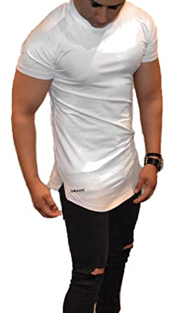 Image Unavailable. Image not available for. Color  DRADE Men Drop Cut  Fitted Long Shirt ... 5bb984d8c