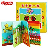 LALABABY Animal Counting Cloth Book Early Education Toy for 0-18 Months