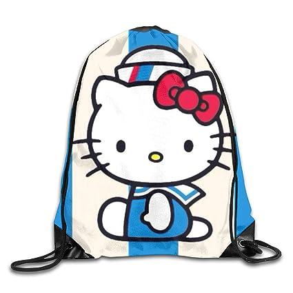 fdd058077 Amazon.com: MPJTJGWZ Drawstring Bag-Hello Kitty Sailor Print ...