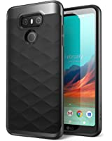 LG G6 Case, Clayco Helios Series Premium Hybrid Protective Case for LG G6 2017 Release, Retail Package (Black)