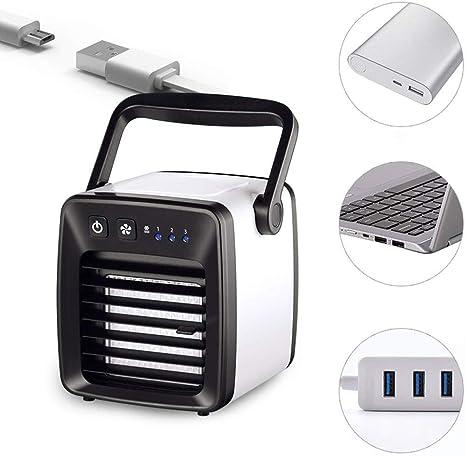 MU Enfriador de Aire pequeño, portátil, Ventilador con Enchufe USB ...