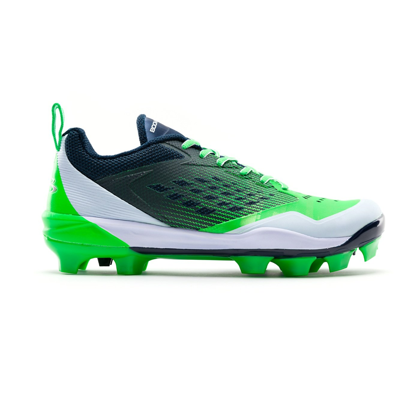 Boombah Men 's Marauderモールドクリート – 7色オプション – 複数のサイズ B07BTNK3ZJ 8|Navy/Lime Green Navy/Lime Green 8