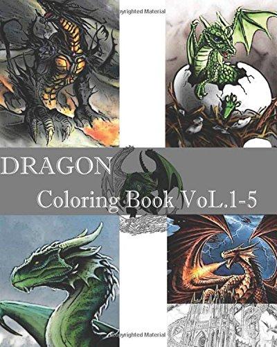 DRAGON : Coloring Book VoL.1-5: Adult Coloring Book, Design Coloring Book pdf epub
