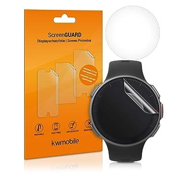 kwmobile 2X Protector de Pantalla para Polar Vantage M - Salvapantallas [Transparente] para Fitness Tracker y smartwatch