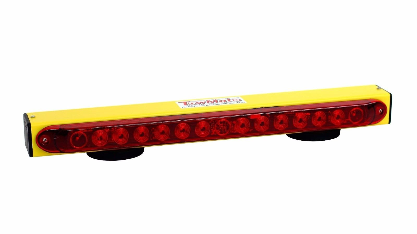 BA Products New! Towmate Yellow Sun Light TM22Y-7RV, TM22Y 7 Way RV Flat Blade Style Transmitter, 22'' Wireless Tow Light with LED Stop, Tail, Turn, Sunlight by BA Products