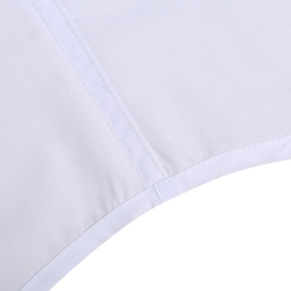 Kuulee Men's Casual Slim Fit Short Sleeve Button Down Business Shirt Cotton Dress Shirts White XXL by Kuulee (Image #6)
