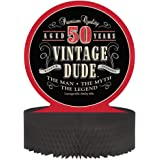 Creative Converting Vintage Dude 50th Birthday Centerpiece with Honeycomb Base
