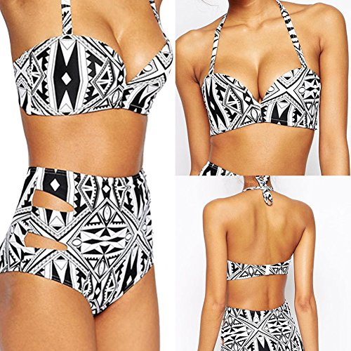 LD Bikini Damenmode Badeanzug Bandeau Bikini Push-Up Split Spaghetti Straps #13 0SkP6r