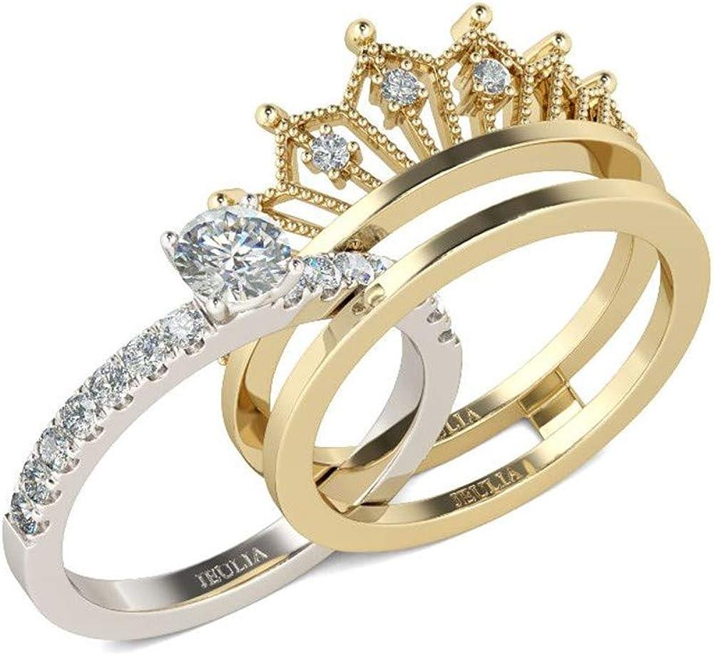 14k Rose Gold Finish Round Cut Diamond Engagement Wedding Ring 925 Sterling Silver Round