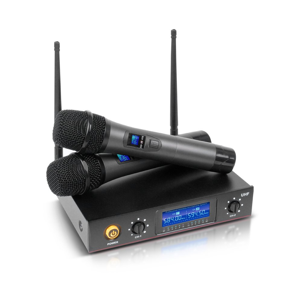 Whole Metal!!!Quality!!UHF!!!Rocket Audio E220 2 Channel Cordless Microphone System UHF Wireless Karaoke Microphone System 2 Mic Made in China