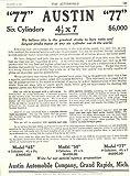 1911 1912 Austin 77 6 Cylinder Magazine Ad