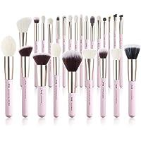Jessup Makeup Brushes Set Professional, 25PCS Pink Premium Natural Powder Foundation Eyeshadow Blending Concealer Blush…