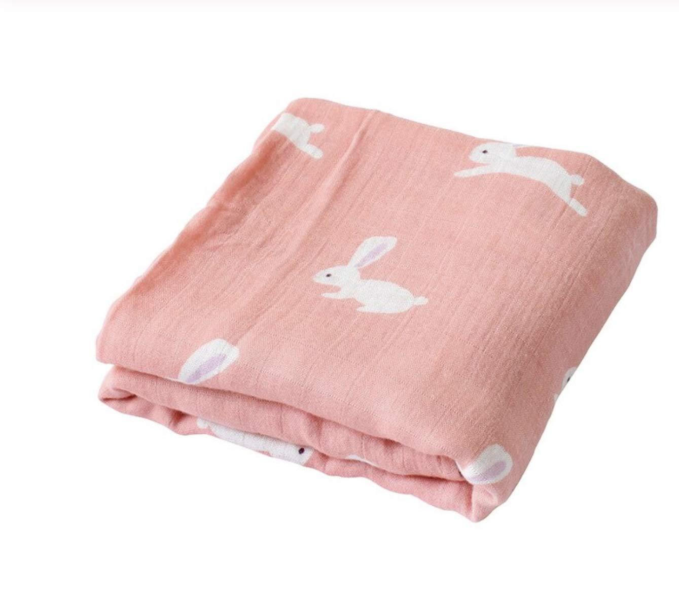 Polar Bear 47x47 Soft Muslin Cotton Oversized Swaddle Unisex Tiny Alpaca Premium Baby Bamboo Blankets Muslin