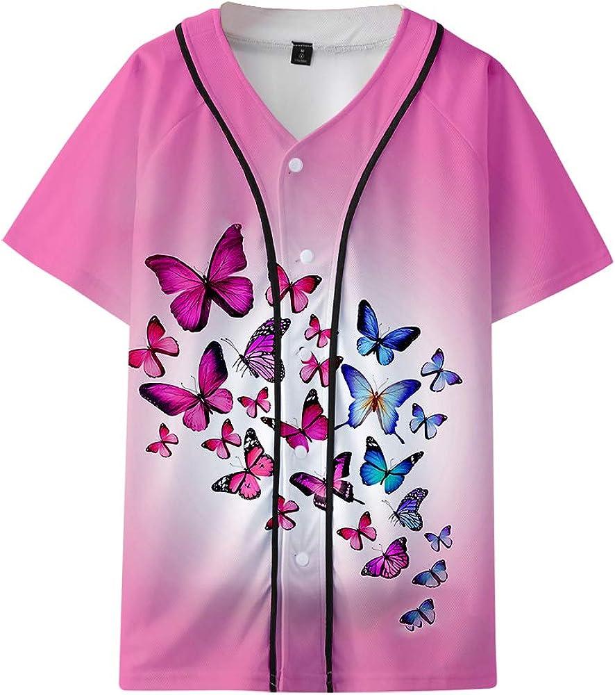 YICHEN Butterfly Baseball Jersey Camiseta De Manga Corta 3D ...
