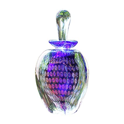 Azul Cobalto Botella de perfume de cristal de pavo real