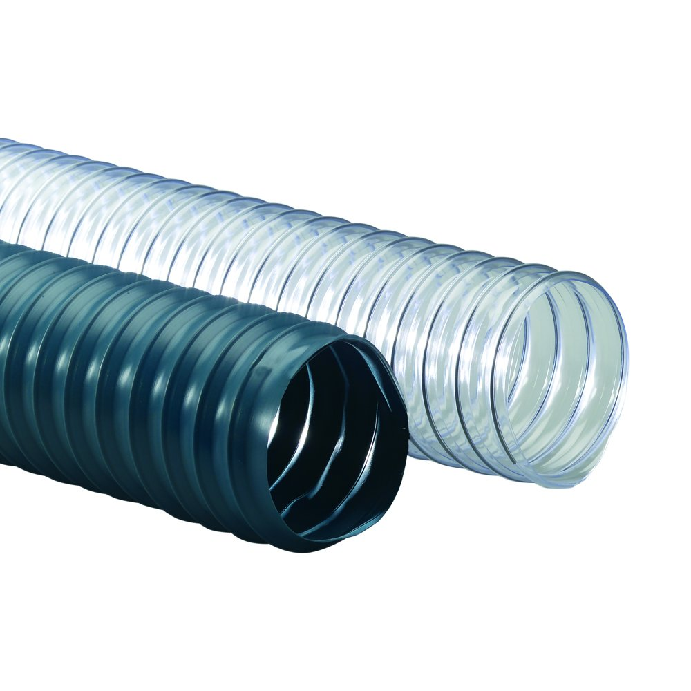 Rubber-Cal PVC Flexduct (Light Duty) Clear - Vent Hose - 4'' ID x 12.5ft Length Hose (Fully Stretched) by Rubber-Cal