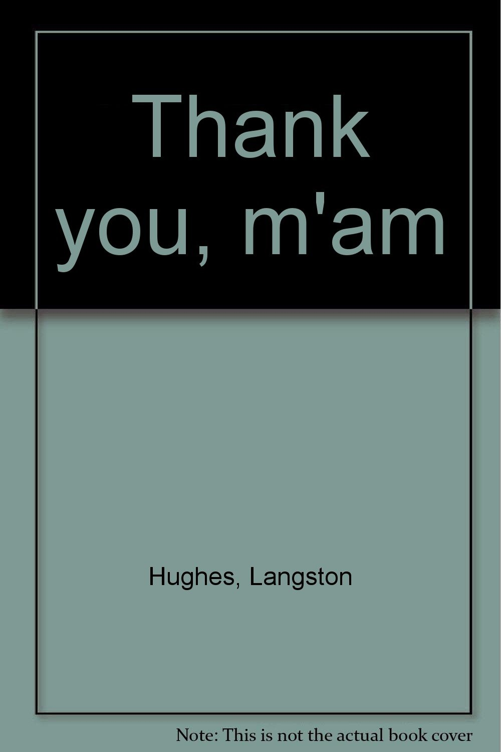 thank you m am by langston hughes