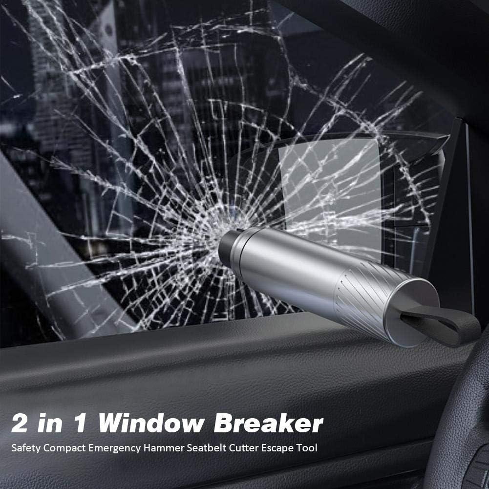 Rompi finestrini in Lega Taglia Cinture di Sicurezza 2-in-1 Martello di Sicurezza Rompi vetri di Emergenza e Taglia Cinture di Sicurezza Strumento di Fuga Rita665Jimmy Rompi vetri