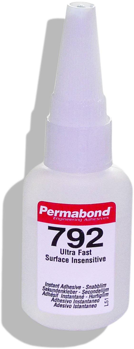 Perma Bond 792 | 20 g botella de plástico con trabajos Boquilla | muy rápido härtender cian acrylat pegamento | pegamento | cyanacrylat segundo | rápido de ...
