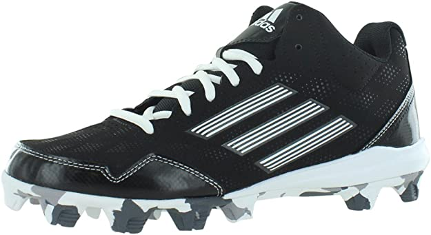 adidas Men's Baseball and Softball Shoes Wheelhouse 2 Mid BSBL Color Black/White Size US 7.5, Regular Width (Black/Carbon Metallic/White, 6.5 D US)