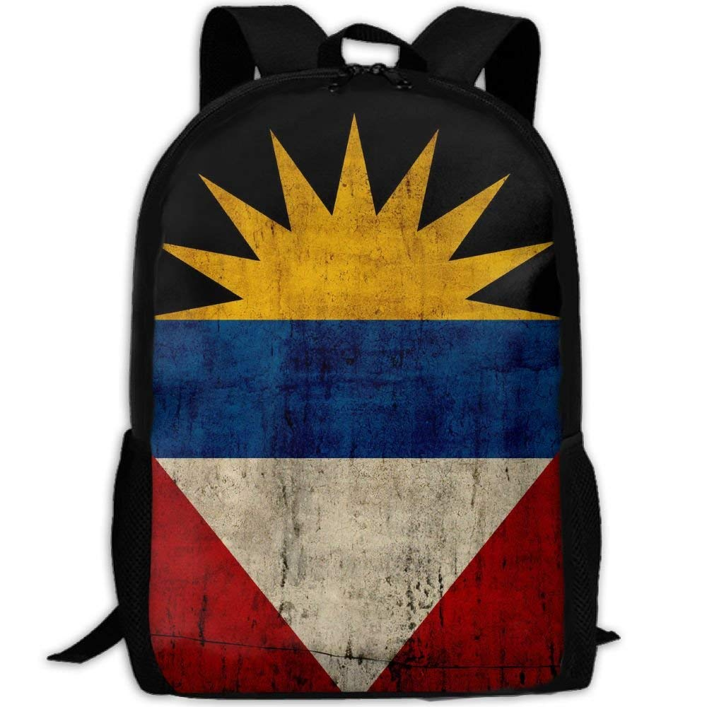 jhguihuyftyrtytgjkh Retro Antigua and Barbu Flag Adult Travel Backpack School Casual ypack Oxford Outdoor Laptop Bag College Computer Shoulder Bags